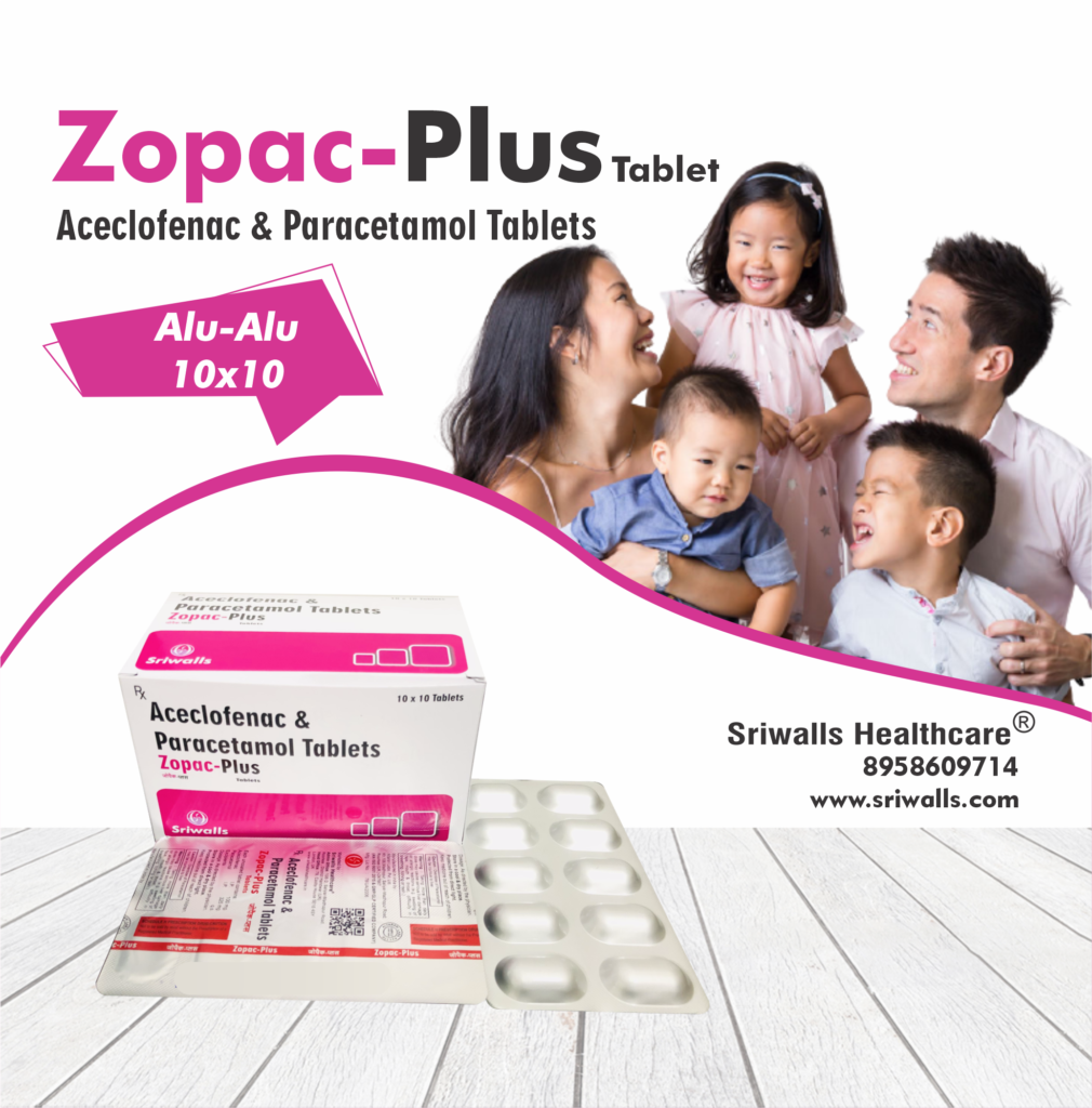 Aceclofenac, & Paracetamol Tablets
